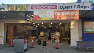 Shop Front Removed - The Friendly Grocer