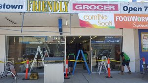 New Shop Front - The Friendly Grocer